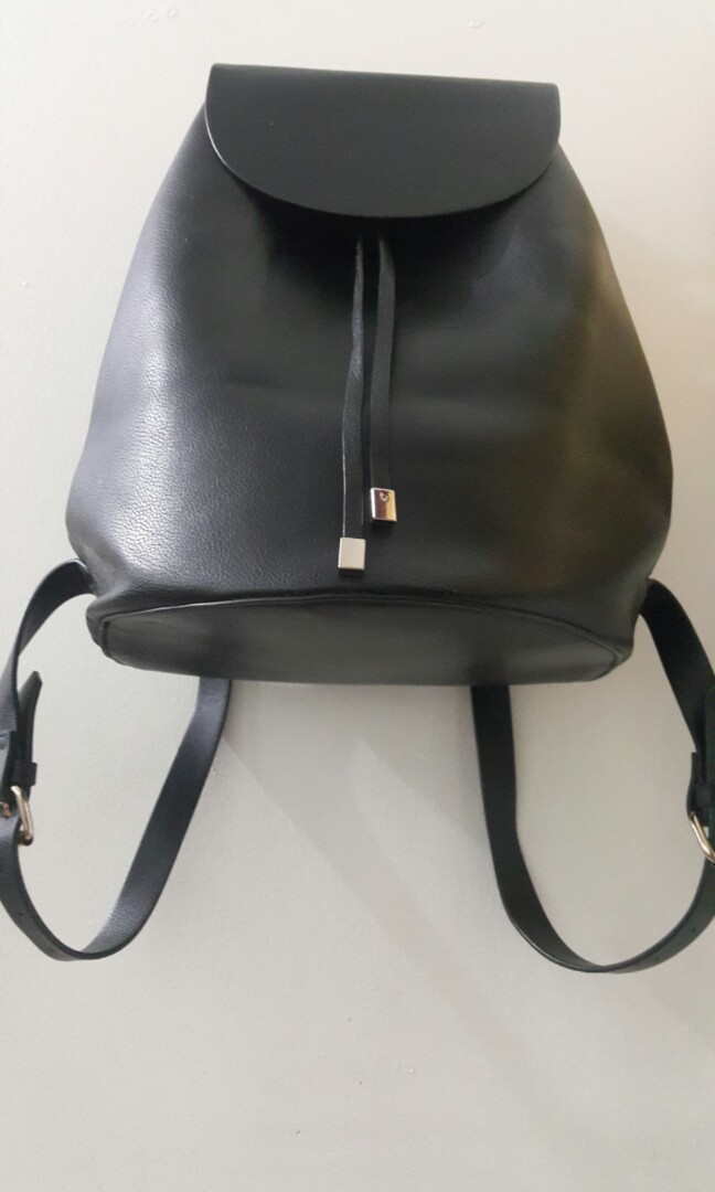 b3d0c52fd3c ZARA draw string back bag, Women's Fashion, Bags & Wallets on Carousell