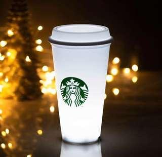 Starbucks White Cup LED Lamp