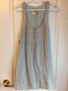 Aritzia TNA new dress, blue with red stripes, length 24cm