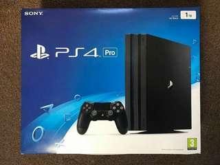 Playstation 4 pro ps4 pro jailbroken 1 TB + 22 games pre-installed
