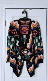 Forever 21 M Patterened Cardigan