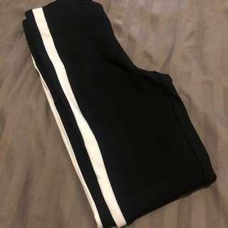 Zara Trafaluc Collection White Side Stripe Pants