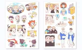 EXO-CBX Fanart Sticker Set