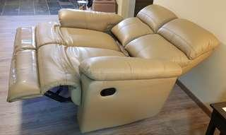 Part Leather Recliner Sofa (2 seater)