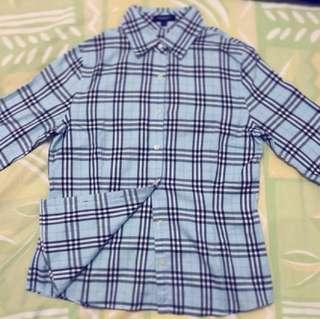 【降】正品 Burberry London 七分袖襯衫