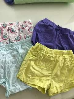 Baby shorts mothercare carters
