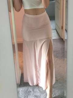 Pink Skirt w 2 front slits