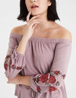 AE Floral Off The Shoulder Top