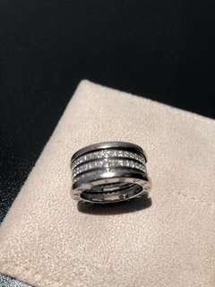 Bvlgari B.Zero 1  5-Band Diamond Ring in White Gold