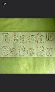 Beach Letter Wood Alphabet Deco