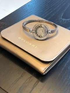 Bvlgari Concentrica White Gold and Pave Diamond Bangle Bracelet