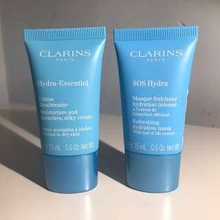 Clarins Hydra-Essentiel and SOS Hydra Dup