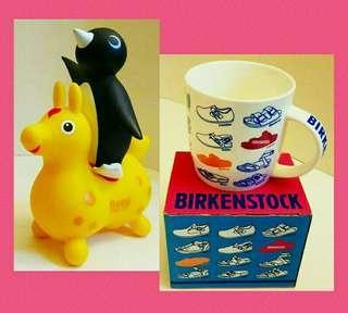全新盒裝 BIRKENSTOCK 杯 + CHOCOOLATE 膠錢箱 (二手)各一  #收藏品#