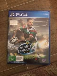 Rugby League 4 PS4