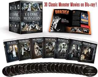 Universal Classic Monsters 30 Film Collection Bluray Boxset   24 discs