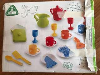 Elc pretend play food dinner set include food toys