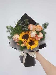 Jolly sunflower bouquet