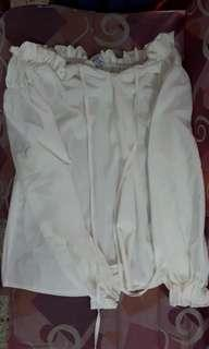 White Off Shoulder Top (READY STOCK)