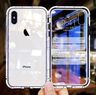 Ultra magnetic phone case - 9H tempered glass cover