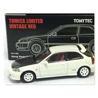 Tomy Tomytec Tomica White Honda Civic EK9 Type R 香港限定版 Collection