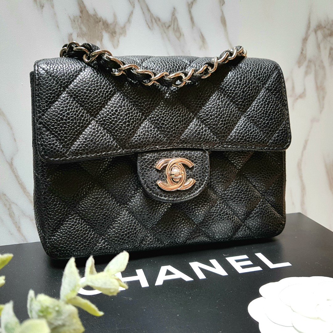 76aecc601874 100% AUTH] CHANEL Square Mini Flap bag, Luxury, Bags & Wallets ...