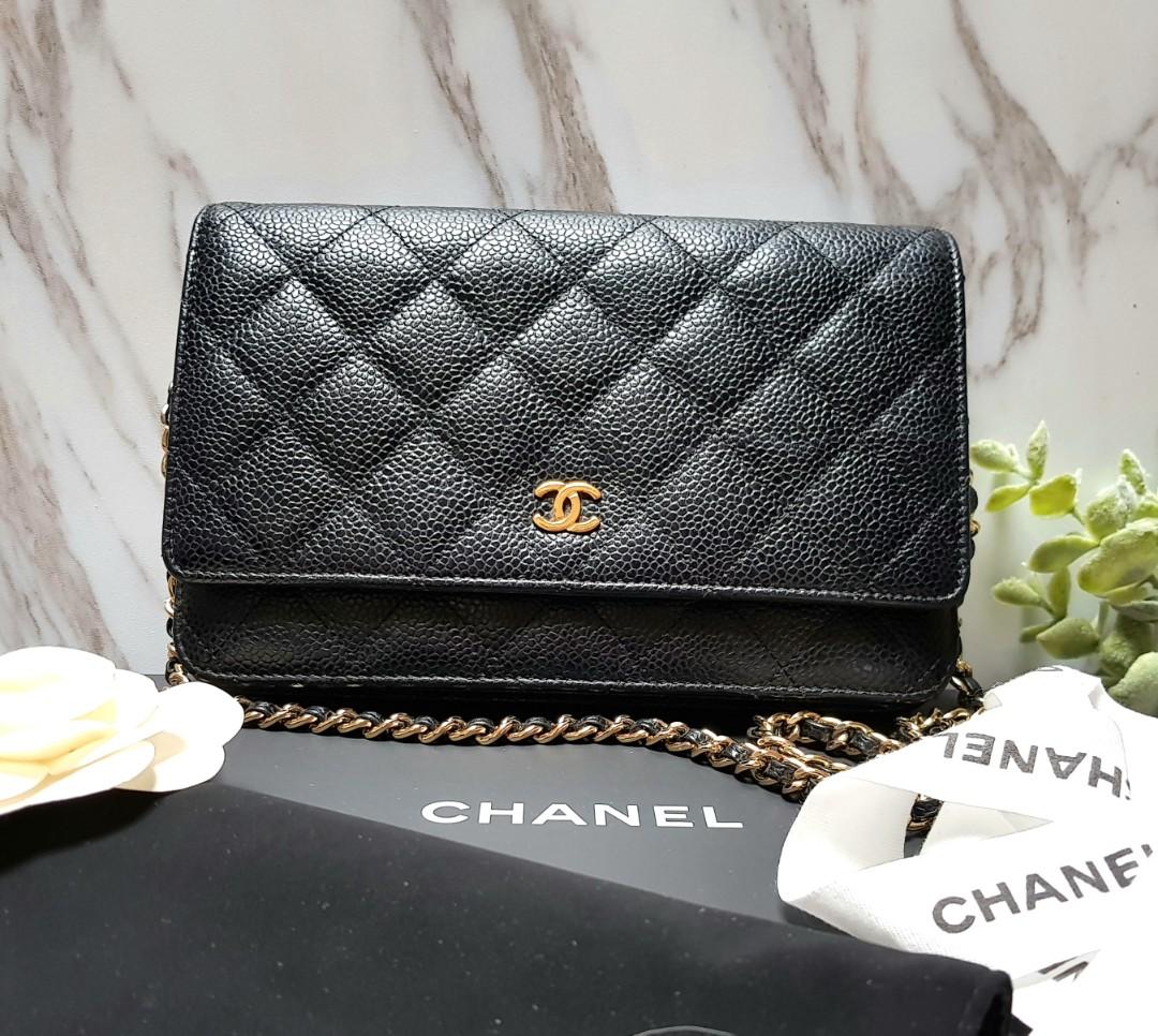 2c74aeda9b25 100% AUTH] CHANEL WOC in Black Caviar with Gold hardware, Luxury ...