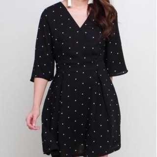 TSA black Polka Dot Dress