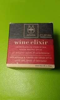 Apivita wine elixir 紅酒日霜 SPF15