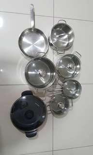 Wmf and neoflam pot set