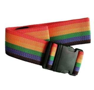 """Adjustable Luggage Strap Belts Travel Bag Accessories for 20""""-32"""" Suitcase Rainbow"""