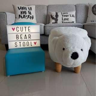 Cute Bear Animal Stool with Storage