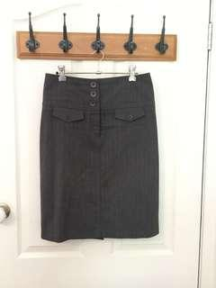 Portmans Size 8 Grey Pencil Skirt