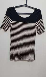 F21 Top - Low Back, Stripes