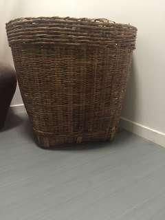 Large round cane busket