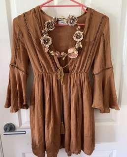 Brown Boho Dress