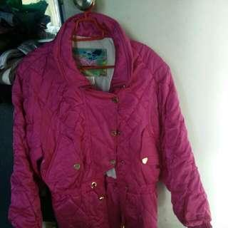 Winter Jacket In Shocking.pink Colour