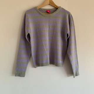 Lilac and grey sweater