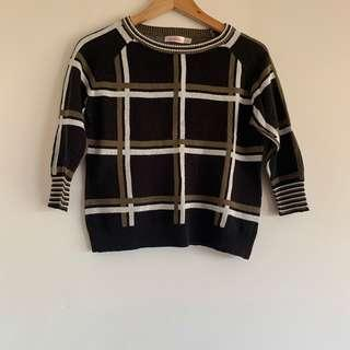 Plaid sweater size 10