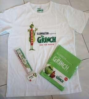 The Grinch Movie Merchandise Notebook, Pencil, Kids Tshirt