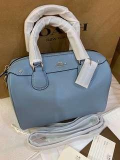 Authentic coach women Bennett 57521 blue mini Bennett bag