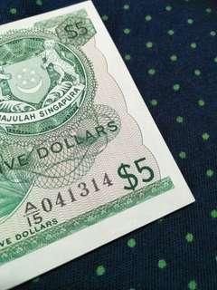 一生一世 error  sg old $5 notes
