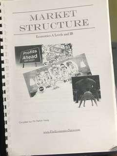 A Level H2 Economics Notes on Market Structure compiled by Kelvin Hong