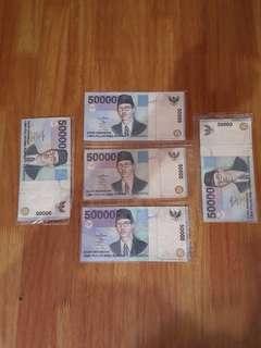 Uang Kuno 50000 thn 1999