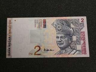 RM2.00 10th series A.Hassan signature 1999 unc
