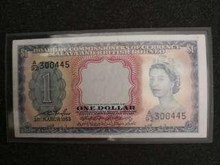 Malaya & British borneo $1 1953