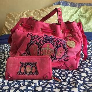 REPRICED JUICY COUTURE BAG AND WALLET