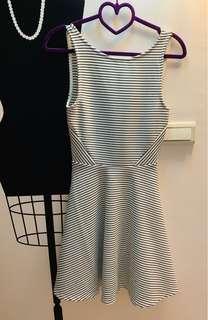 🚚 二手出清H&M洋裝(條紋無袖露背)