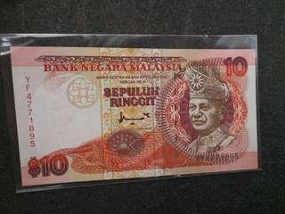 Rm10 7th series signed A.DON 1995 UNC