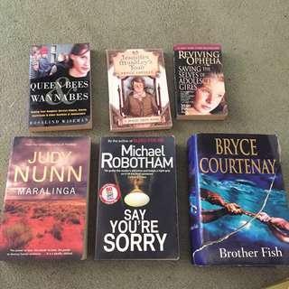Range of books