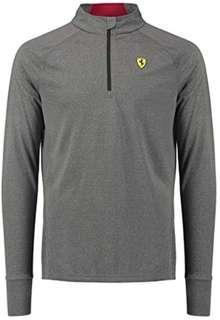 Scuderia Ferrari Men's Gray Long Sleeve top